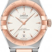 Omega Constellation Gold/Steel 29mm Silver Roman numerals