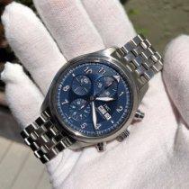 IWC Pilot Chronograph usados 42mm Azul Cronógrafo Fecha Día de la semana Acero