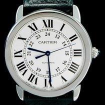 Cartier Ronde Croisière de Cartier Acier 36mm Argent Romain