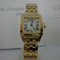 Cartier Santos Demoiselle Жёлтое золото 20mm Белый Римские