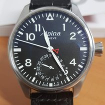 Alpina Startimer Pilot Manufacture Steel 44mm Black Arabic numerals