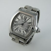 Cartier Roadster Steel 42mm Silver Roman numerals