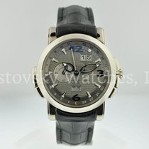 Ulysse Nardin White gold Automatic pre-owned GMT +/- Perpetual