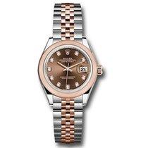 Rolex Lady-Datejust Gold/Steel 28mm Brown