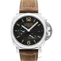 Panerai Luminor 1950 3 Days GMT Power Reserve Automatic Stahl 42mm Schwarz