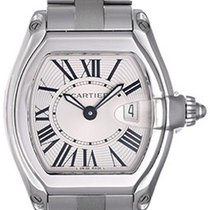Cartier Roadster Stainless Steel Ladies Watch W62016V3 Silver...