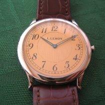 L.Leroy White gold 42mm Manual winding 01KA C new