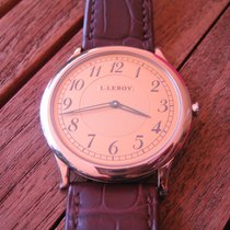 L.Leroy White gold 42mm Manual winding 01KA C new