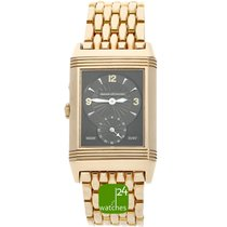 Jaeger-LeCoultre Red gold Manual winding Silver Arabic numerals 26mm pre-owned Reverso Duoface