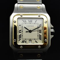 Cartier Santos Galbée 187901 Very good Gold/Steel 29mm Quartz