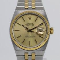 Rolex Datejust Oysterquartz Acero y oro 36mm Champán Sin cifras