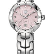 TAG Heuer Link Lady WAT1415.BA0954 - TAGHEUER Pink Dial with Diamonds new