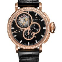 Zenith Pilot Type 20 Tourbillon Oro rosa 48mm Negro