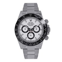 Rolex DAYTONA 40mm Steel Ceramic Bezel White Dial Watch 116500LN