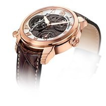 Lebeau-Courally new Manual winding Skeletonized Display Back Small Seconds Luminescent Hands Power Reserve Display Limited Edition 43mm Rose gold Sapphire crystal