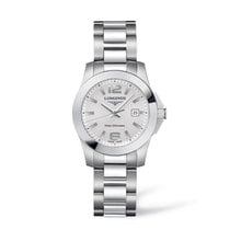 Longines Ladies L32774766Conquest Stainless Steel Watch