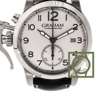 Graham Chronofighter 1695 Europe 42mm Arabic White Dial NEW