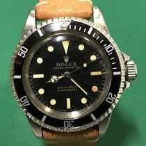 Rolex 5513 Submariner Black Gilt Dial with Leather Strap