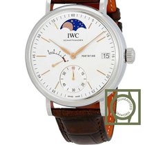 IWC Portofino Hand-Wound 8 Days Silver Dial Moonphase NEW