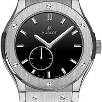Hublot Classic Fusion Ultra-Thin Titanio 45mm Negro Sin cifras