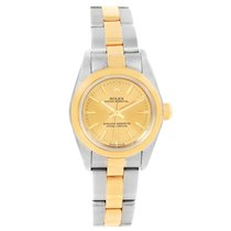 Rolex Oyster Perpetual Non-date Steel Yellow Gold Ladies Watch...
