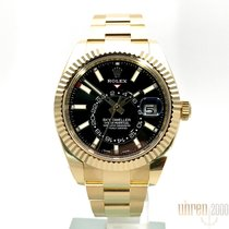 Rolex Sky-Dweller Yellow gold 42mm Black No numerals