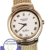 Rolex Cellini Geneve 6621 Ivory Cream 26mm 18K Yellow Gold...