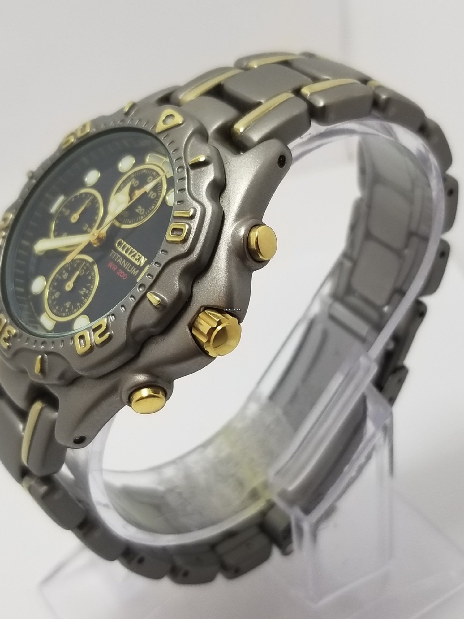 62108382b Citizen Two-tone Titanium #0560-h02829 Black Dial Chronograph... for  Listing no longer available for sale from a Private Seller on Chrono24