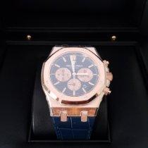 Audemars Piguet Royal Oak Chronograph Açık kırmızı altın 41mm Mavi Sayılar yok Türkiye, istanbul