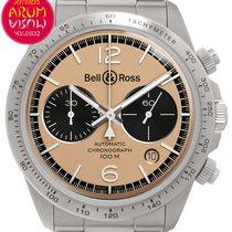 Bell & Ross BR V2 folosit 41mm De culoarea şampaniei Cronograf Data Otel