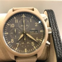 IWC Carbon Manual winding 44.5mm pre-owned Pilot Chronograph Top Gun