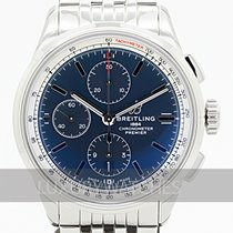 Breitling Steel 42mm Blue