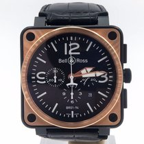 Bell & Ross Br01-94-s 46mm Black Pvd & 18k Rose Gold...