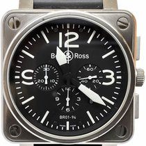 Bell & Ross BR 01-94 Chronographe pre-owned 46mm Black Chronograph Date Rubber