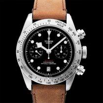 Tudor Black Bay Chrono Black Steel/Leather 41mm - 79350