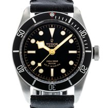 Tudor Heritage Black Bay Black 79220N Watch with Leather...