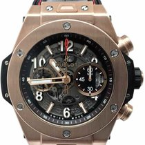 Hublot Big Bang Unico pre-owned 45mm Transparent Chronograph Date Rubber