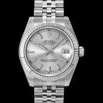Rolex Lady-Datejust Or blanc 31mm Argent