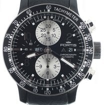 Fortis B-42 Stratoliner pre-owned 43mm Black Chronograph Date Leather