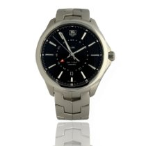 TAG Heuer Link Calibre 7 Steel 42mm Black No numerals