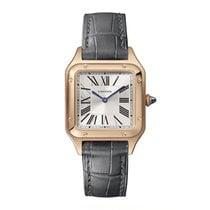 Cartier Santos Dumont Oro rosado 38mmmm Plata Romanos