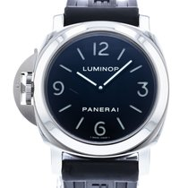 沛納海 Luminor Base PAM 219 非常好 鋼 44mm 手動發條