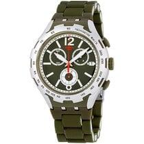Swatch Aluminum Quartz Green Arabic numerals 45mm new