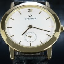 Eterna Yellow gold Manual winding White Roman numerals 34mm pre-owned