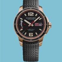 Chopard neu Automatik Sichtboden Zentralsekunde Chronometer Gangreserveanzeige Verschraubte Krone Leuchtindizes 43,00mm Roségold Saphirglas