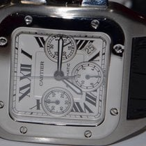 Cartier W20090X8 Steel Santos 100 42mm pre-owned United States of America, New York, Greenvale