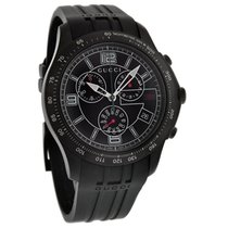 Gucci 126 GTimeless Mens Blk Finish Swiss Chrono Quartz Watch...