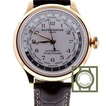 Baume & Mercier Capeland Worldtimer 18k pink gold beige dial...
