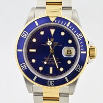 Rolex Submariner Two Tone Blue Dial/bezel 18k Gold & Stainless...
