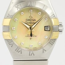 Omega Constellation Ladies Gold/Steel 27mm Mother of pearl No numerals